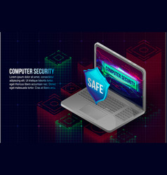 computer security concept background isometric vector image