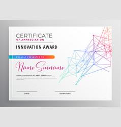 Creative colorful certificate template design vector