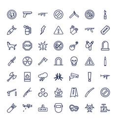 Danger icons vector