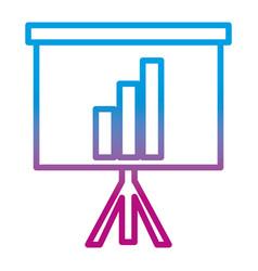 Degraded line statistics bar precentation graphic vector