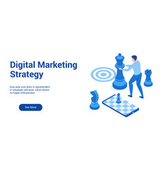 dm strategy 3d template 2 vector image
