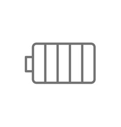 electricity accumulator battery line icon vector image