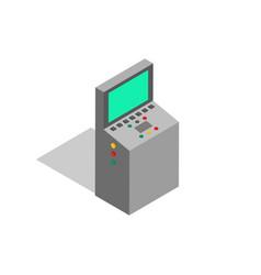 factory screen monitoring vector image
