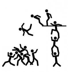 Falling down people vector