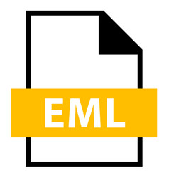 File name extension eml type vector