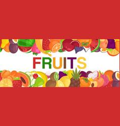 fruit fresh border for farm market big banner vector image
