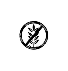 Gluten free icon isolated on white background vector