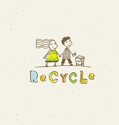 go green recycle reduce reuse sustainable eco vector image vector image