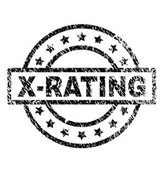 Grunge textured x-rating stamp seal vector