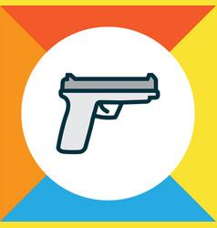 Gun icon colored line symbol premium quality vector