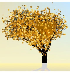 Hearts floral tree vector