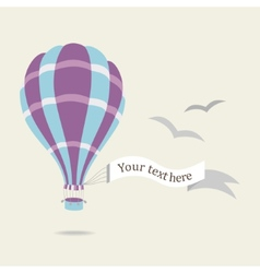 hot air balloon on the sky vector image
