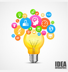 Light with lots of ideas vector