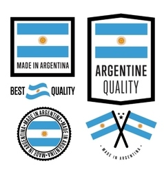 Made in Argentina label set vector image