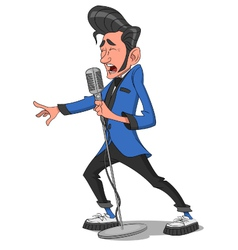 man with microphone vector image