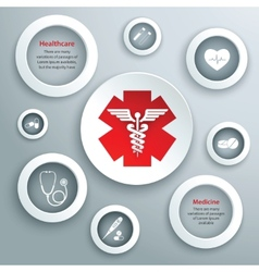 Medical paper symbols vector