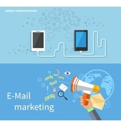 Mobile communication and e-mail marketing vector
