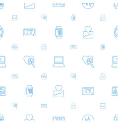 Monitor icons pattern seamless white background vector