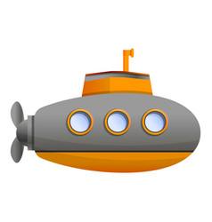 ocean submarine icon cartoon style vector image