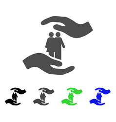 people care hands flat icon vector image