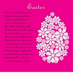 Pink card with the text for Easter vector