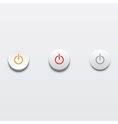 Power buttons ui element vector image