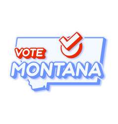 Presidential vote in montana usa 2020 state map vector