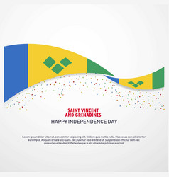 Saint vincent and grenadines happy independence vector