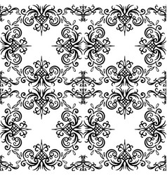 seamless black and white vintage texture with vector image