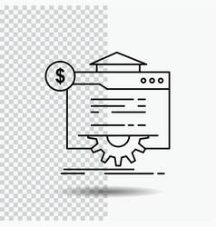 seo progress globe technology website line icon vector image