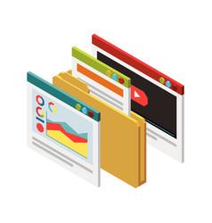 Seo web windows composition vector
