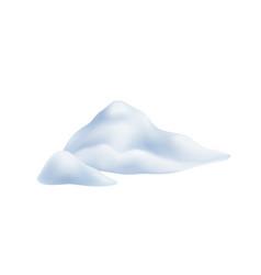 Snow powdery snowdrift vector