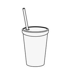 soda plastic cup vector image