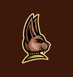 sphinx cat mascot logo egyptian cat mascot logo vector image