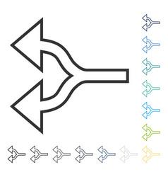 Split arrows left icon vector