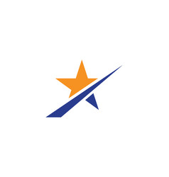Star logo template icon vector