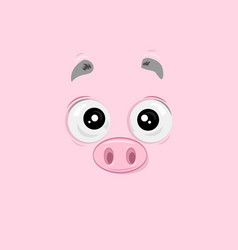 Surprised piggy vector