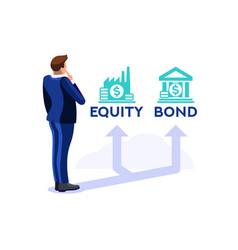 Symbolic decision investment financial symbol vector