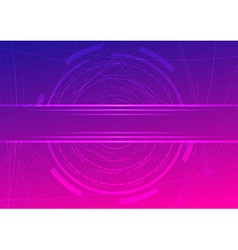 Technological ring - futuristic background vector