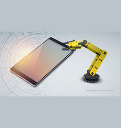 technology abstract design concept vector image