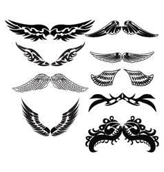 tribal wings for tattoo vector image