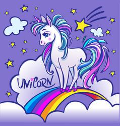 unicorn head portrait magic fantasy horse d vector image