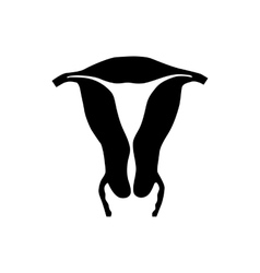 Uterus icon in simple style vector