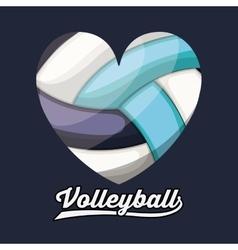 Volleyball league design vector