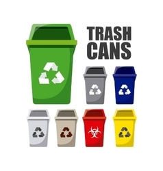 waste concept design vector image