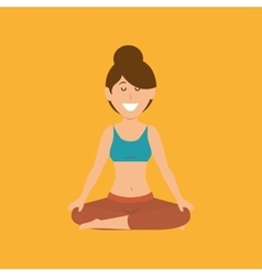 Woman yoga healthy life vector