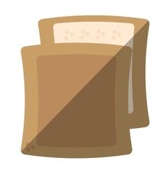 halved bread bakery breakfast design shadow vector image