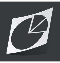 Monochrome diagram sticker vector image