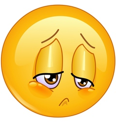 sorrow emoticon vector image vector image