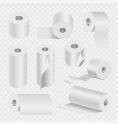 toilet paper roll or kitchen towel 3d icons vector image